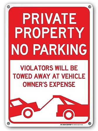 Amazon.com: Señal de no aparcamiento, señal de conducción ...