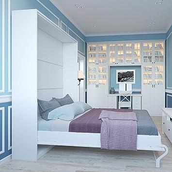 Smartbett Bett Verstecktem Von 140 Cm Vertikal Schrank Bett Das