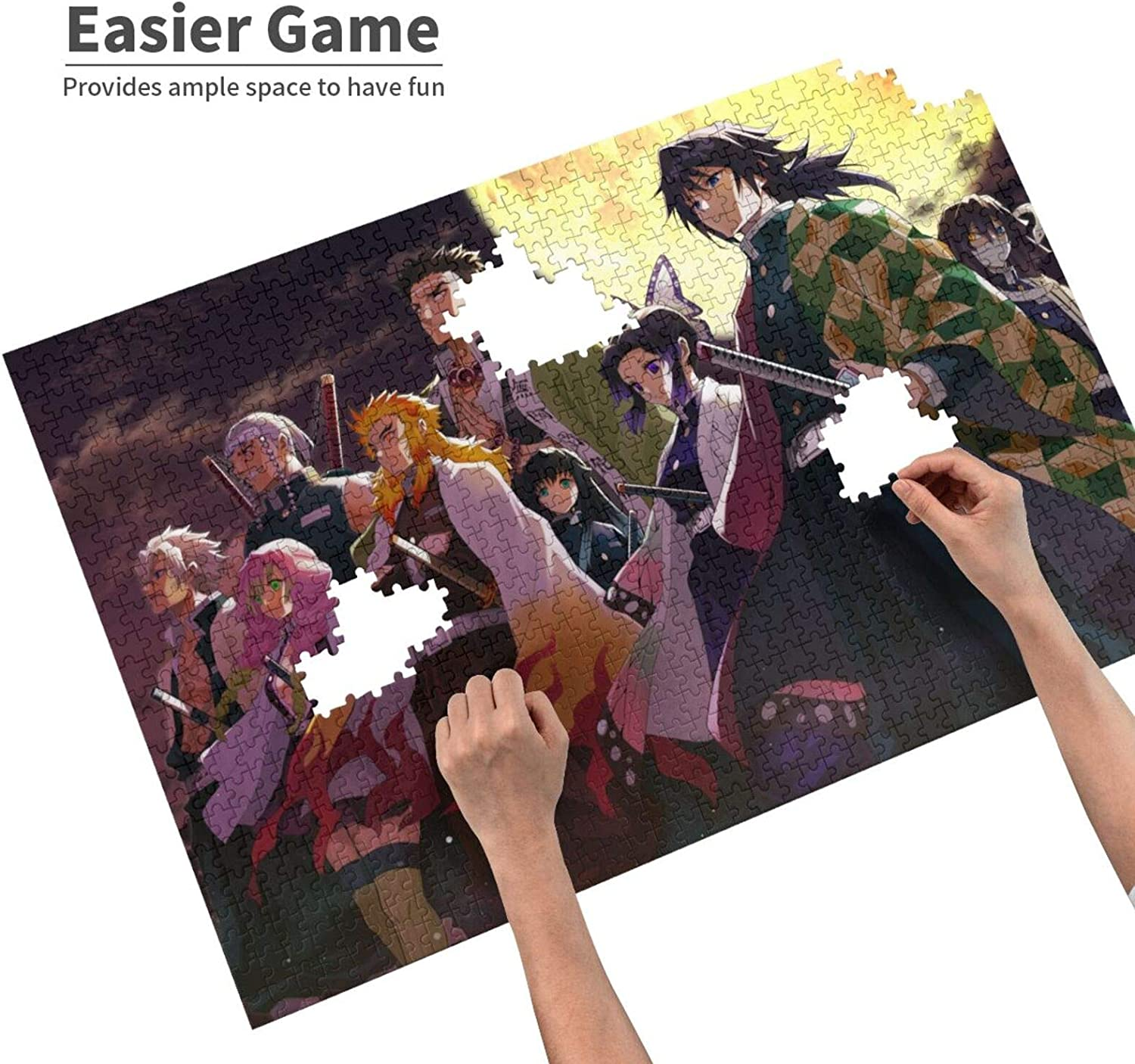 Anime Puzzles for Adults 1000 Pieces Demon/_ S/_Layer Jigsaw Puzzles Birthday Gift Home Decor for Teens Kids 29.5x19.7 in