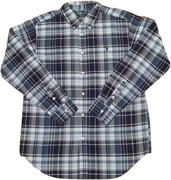 Ralph Lauren - Camiseta de cuadros para niño (talla XL, 18-20 años) Gris a cuadros X-Large (18-20 años): Amazon.es: Ropa y accesorios