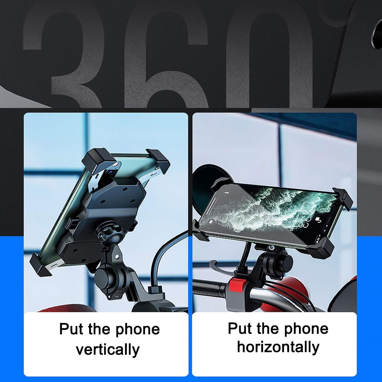 Motorcycle Mobile Phone Holder 2 In 1 Qi Wireless And Elektronik
