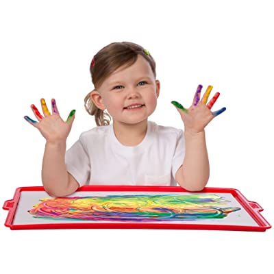 Finger paint paper and tray – creative fun!