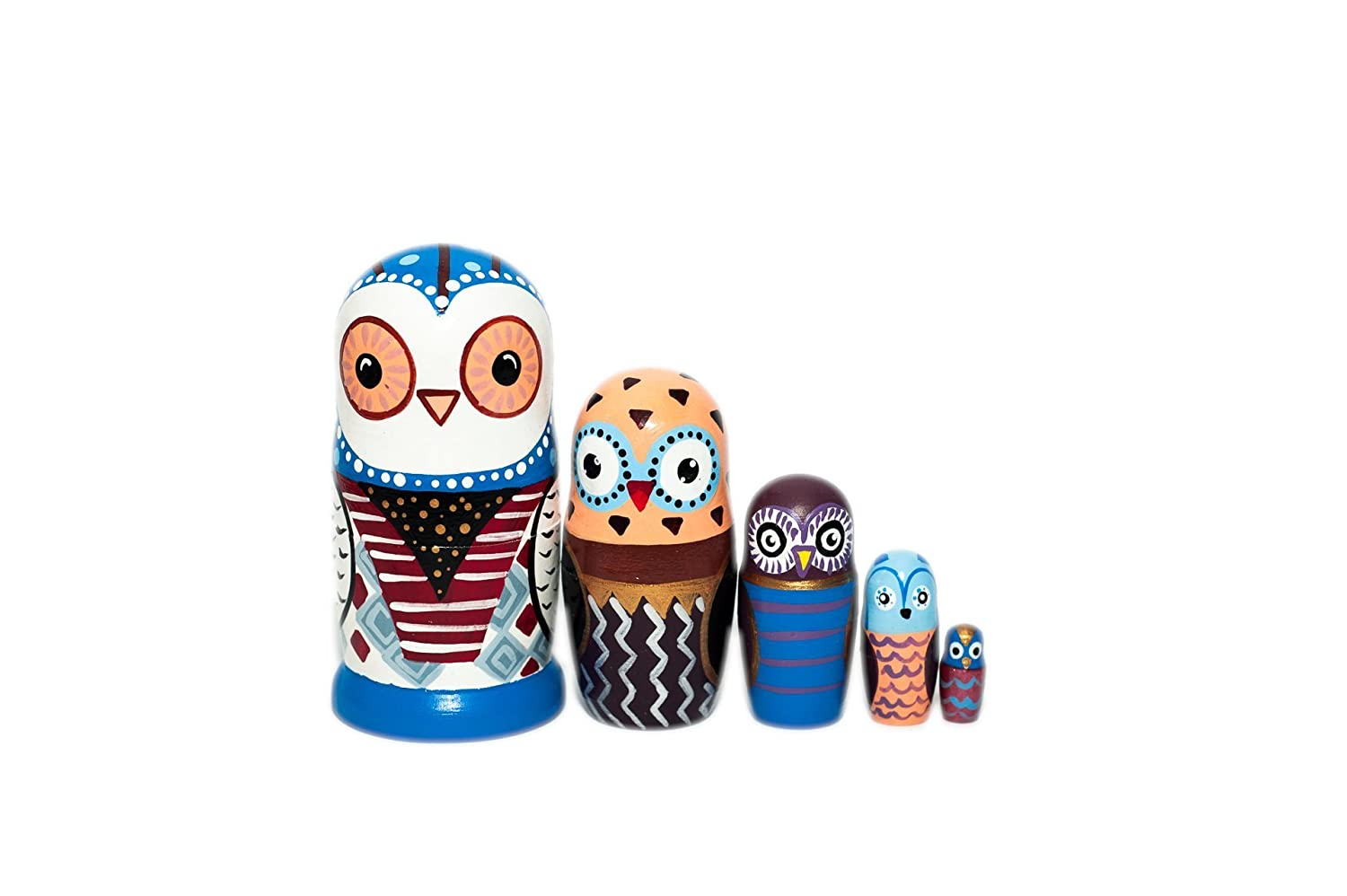 Owls Nesting dolls - Wooden dolls - Nesting dolls owl - Modern Owls - Montessori toy - Learning toy set