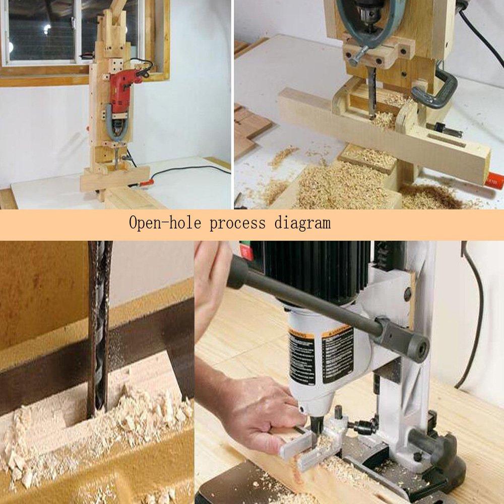 Square Hole Drill Bit, 7pcs Woodworking Mortiser Drill Bit, Steel Hardness Sharp Durable Mortising Chisel Set 1/2-Inch, 1/4-Inch, 3/4inch, 3/8-Inch, 5/8-Inch, 5/16-Inch, 9/16-Inch by SaferCCTV (Image #7)