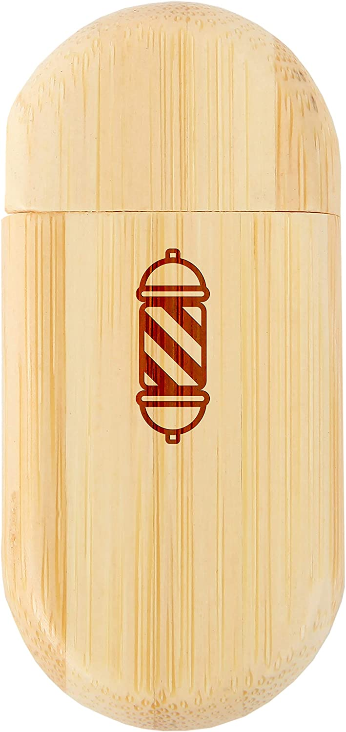 Barber Pole 8Gb Bamboo USB Flash Drive with Rounded Corners Wood Flash Drive with Laser Engraving 8Gb USB Gift for All Occasions