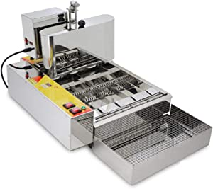 SHIYANLI Electric 6-Row Automatic Mini Donut Machine Donut Maker Fryer Machine with 6pcs/time Stainless Steel Doughnut Making Machine,220V