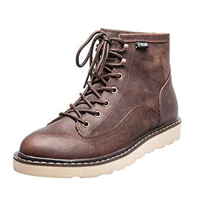 Mens flat bottom work boot