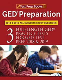 Amazon ged preparation 2018 all subjects exam preparation book ged preparation 2018 2019 all subjects study questions three full length practice tests fandeluxe Images