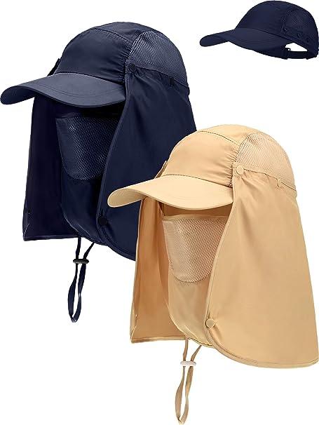 2 Piezas Sombrero de Safari de Algodón Gorra de Pescado con ...