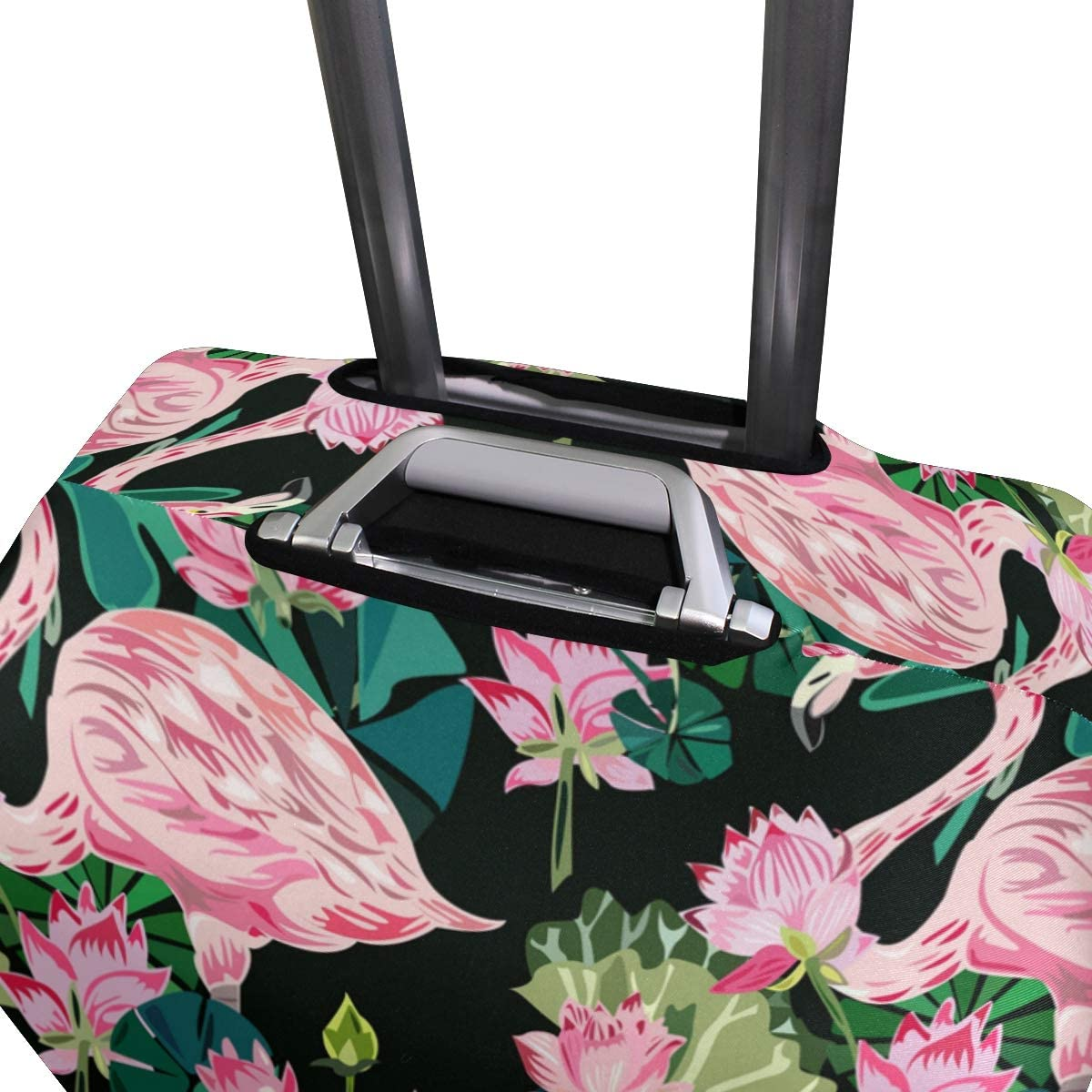 FOLPPLY Flamingo Pattern Luggage Cover Baggage Suitcase Travel Protector Fit for 18-32 Inch