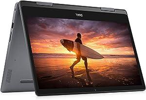 "Dell Inspiron 14 2 In 1 Laptop 14"" HD (1366 X 768) Touchscreen|8th Gen Intel Core i3-8145U Processor| 4GB RAM|128 SSD | Windows 10 | i5481-3595GRY (Renewed)"