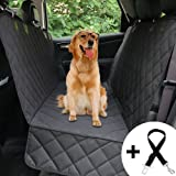 Honest Luxury Quilted Dog Car Seat Cover With Side Flap Pet Front&Backseat cover for Cars, Trucks, and Suv's - WaterProof & NonSlip Diamond Pattern Dog Seat Cover