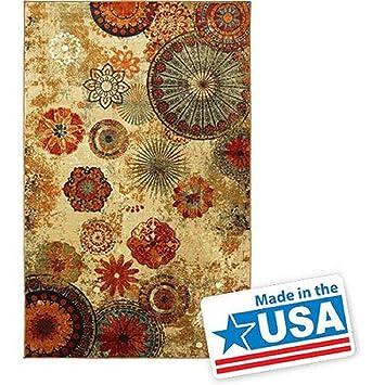 New Medallion Floral Shapes Area Rug 5 Feet X 8 Multicolor Multi Color Carpet