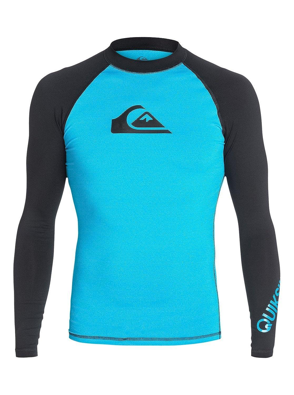 Quiksilver 올 타임 긴소매 래쉬가드 수영 셔츠 UPF 50+