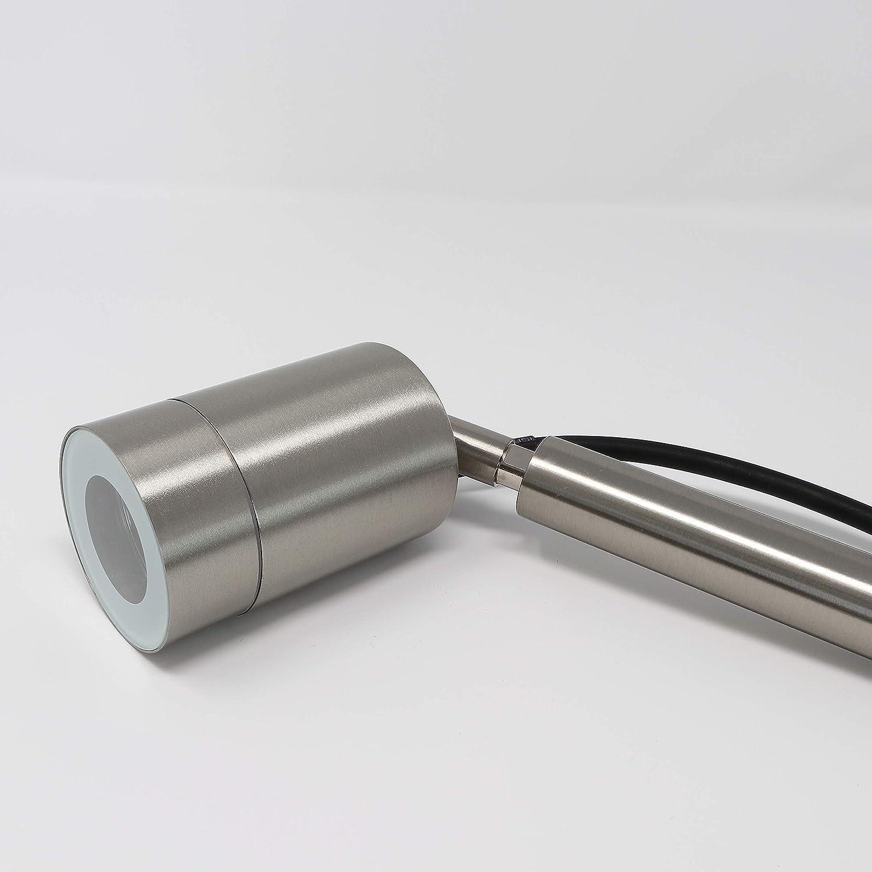 IP44 GU10//230 V Faretto a LED per esterni colore: argento per esterni moderno 1er Set Garden con picchetto