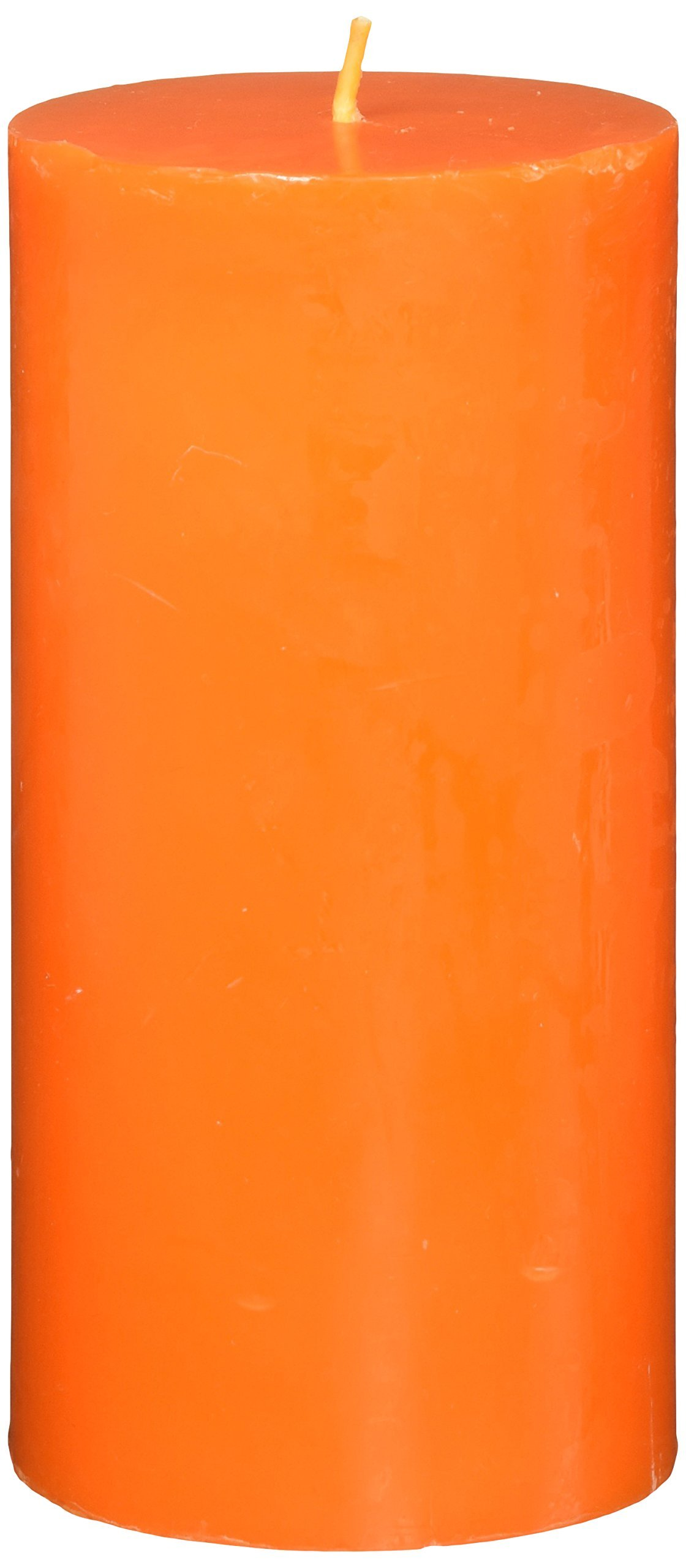 Zest Candle Pillar Candle, 3 by 6-Inch, Orange