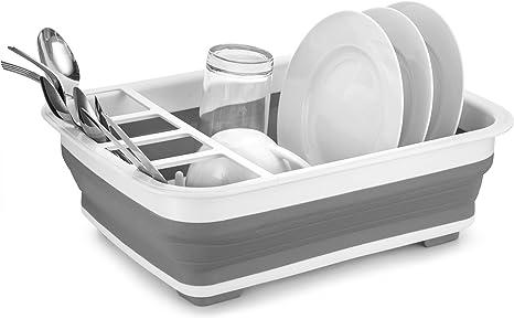 Home Basics fácil almacenamiento plegable estante para platos y cubiertos  escurridor con soporte b191475ec21a