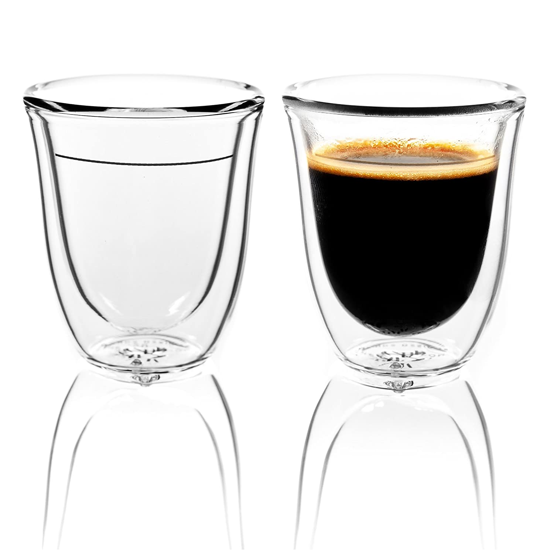 Amazoncom - Premium Thicker Glass Double Wall Espresso Cups Insulated