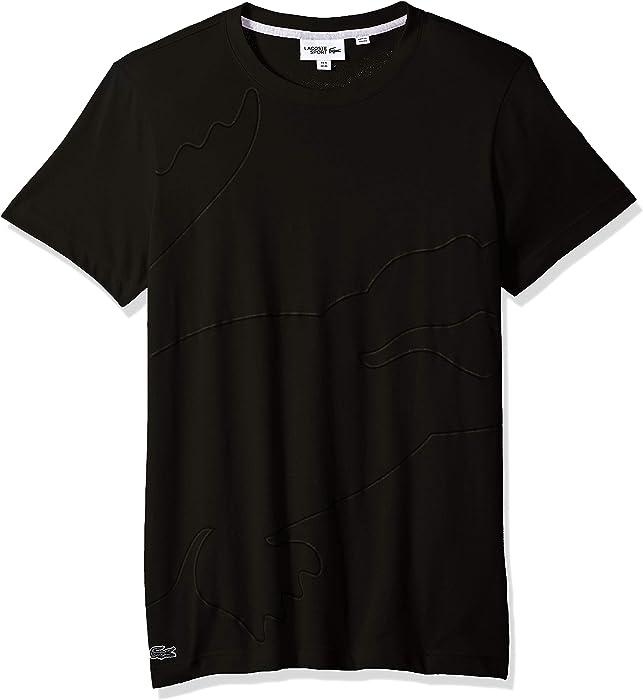6a6e9f132 Lacoste Men's Sport Short Sleeve Outlined Big Croc T-Shirt, Graphite/Black/