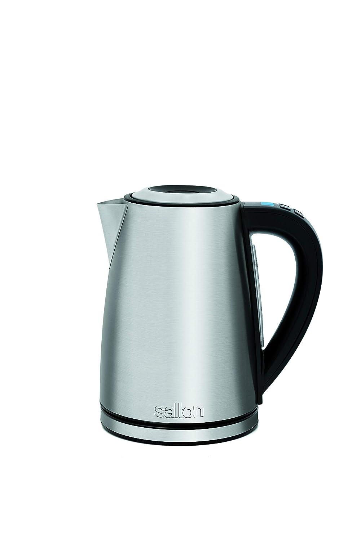 Salton JK1657 Stainless Steel Variable Temperature 1.7 L//QT Kettle 1.7 Liters Silver