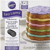 Wilton W4323 Easy Layers Cake Pans 4/Pkg - Scalloped