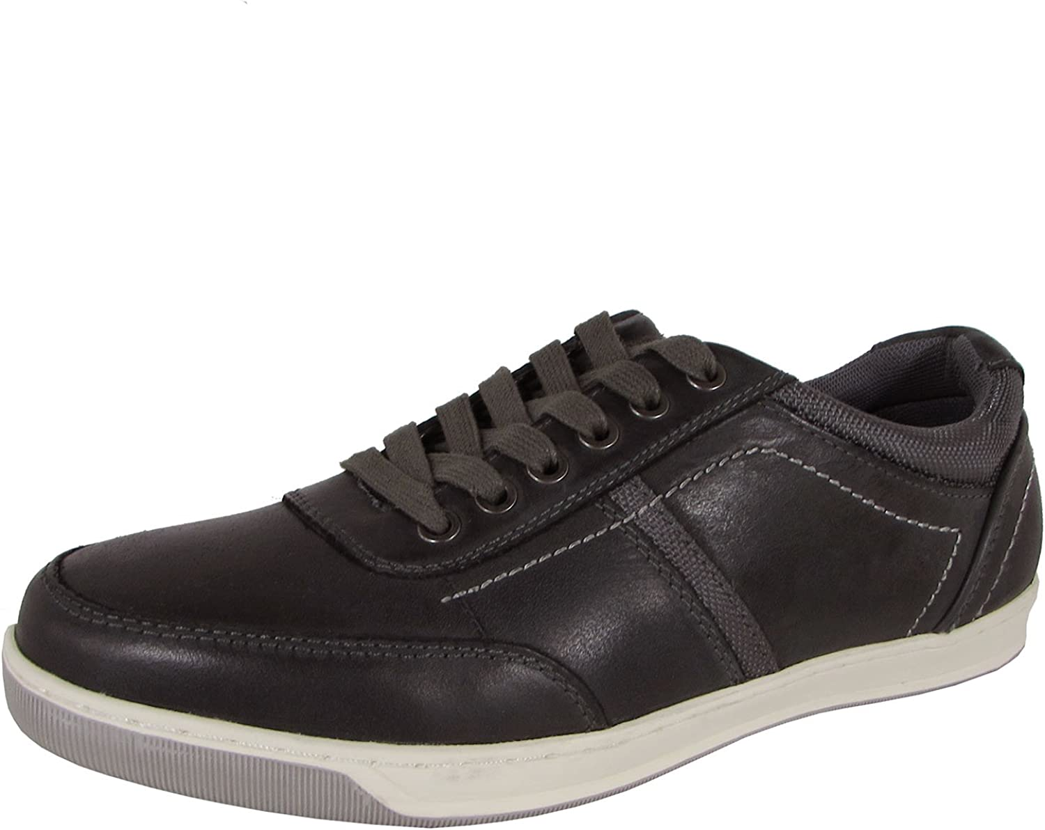Steve Madden Mens P-Daily Lace Up Retro Sneaker Shoes US 8.5 Grey Leather