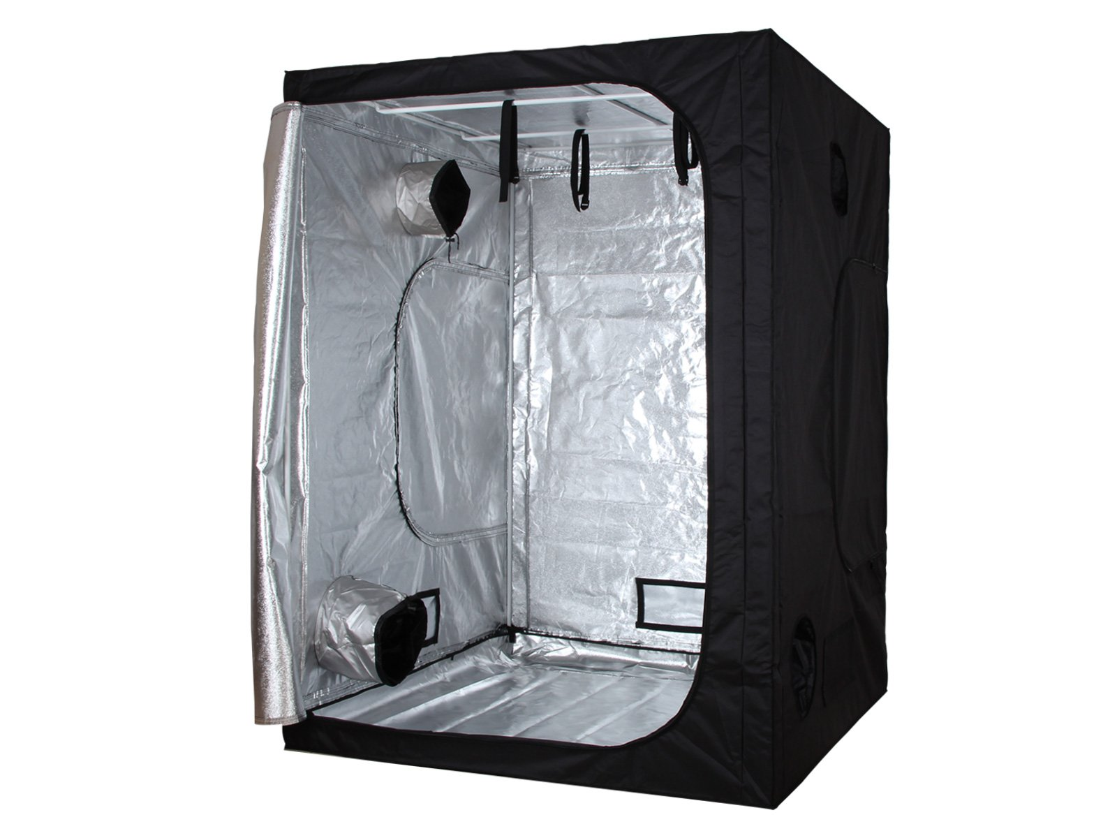 60''x60''x78'' Indoor Grow Tent Room Reflective Mylar Hydroponic Non Toxic Hut 600D 5'x5'x6.5' HX-006078-P1 by Bourkeliving