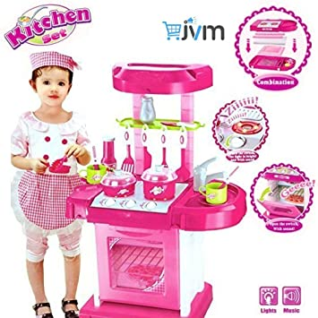 a52f8b573847 Buy JVM Luxury Battery Operated Kitchen Play Set Super Toy for Kids Online  at Low Prices in India - Amazon.in