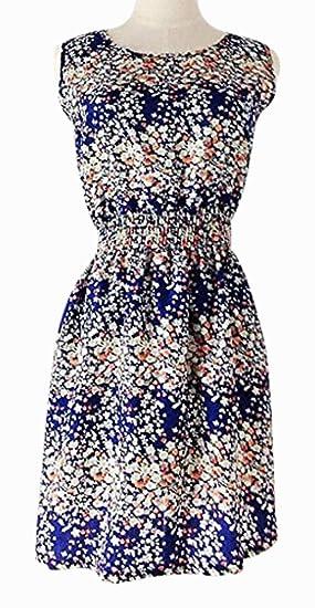 33f63d9aa Vestido solera floreado sin mangas - estilo jipi muy moderno - pareo ropa  de playa - talla 38-40: Amazon.es: Juguetes y juegos