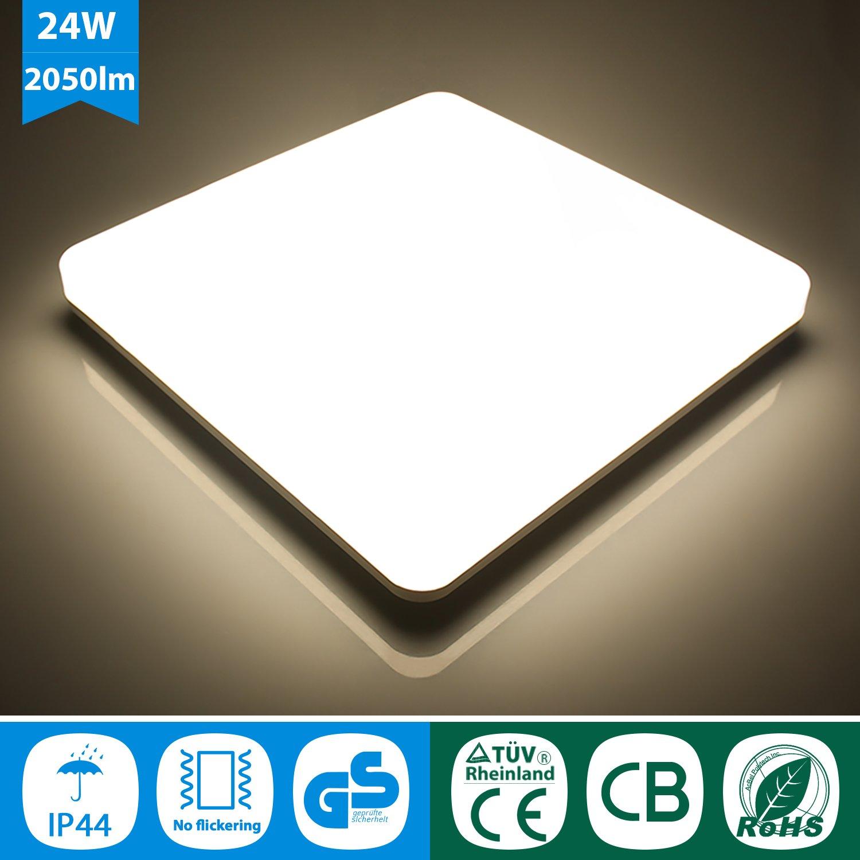 J&C 24W LED Deckenleuchte für Küche und Bad