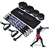 BQYPOWER Resistance Bands Set, 12PCS Exercise Bands Workout Band Ankle Exercise Bands with Door Anchor Handles Legs…