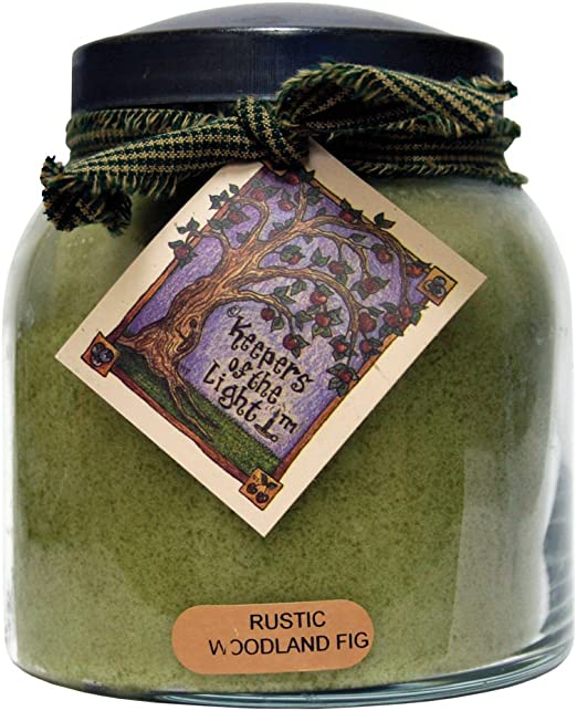 6-Ounce A Cheerful Giver Rustic Woodland Fig Baby Jar Candle