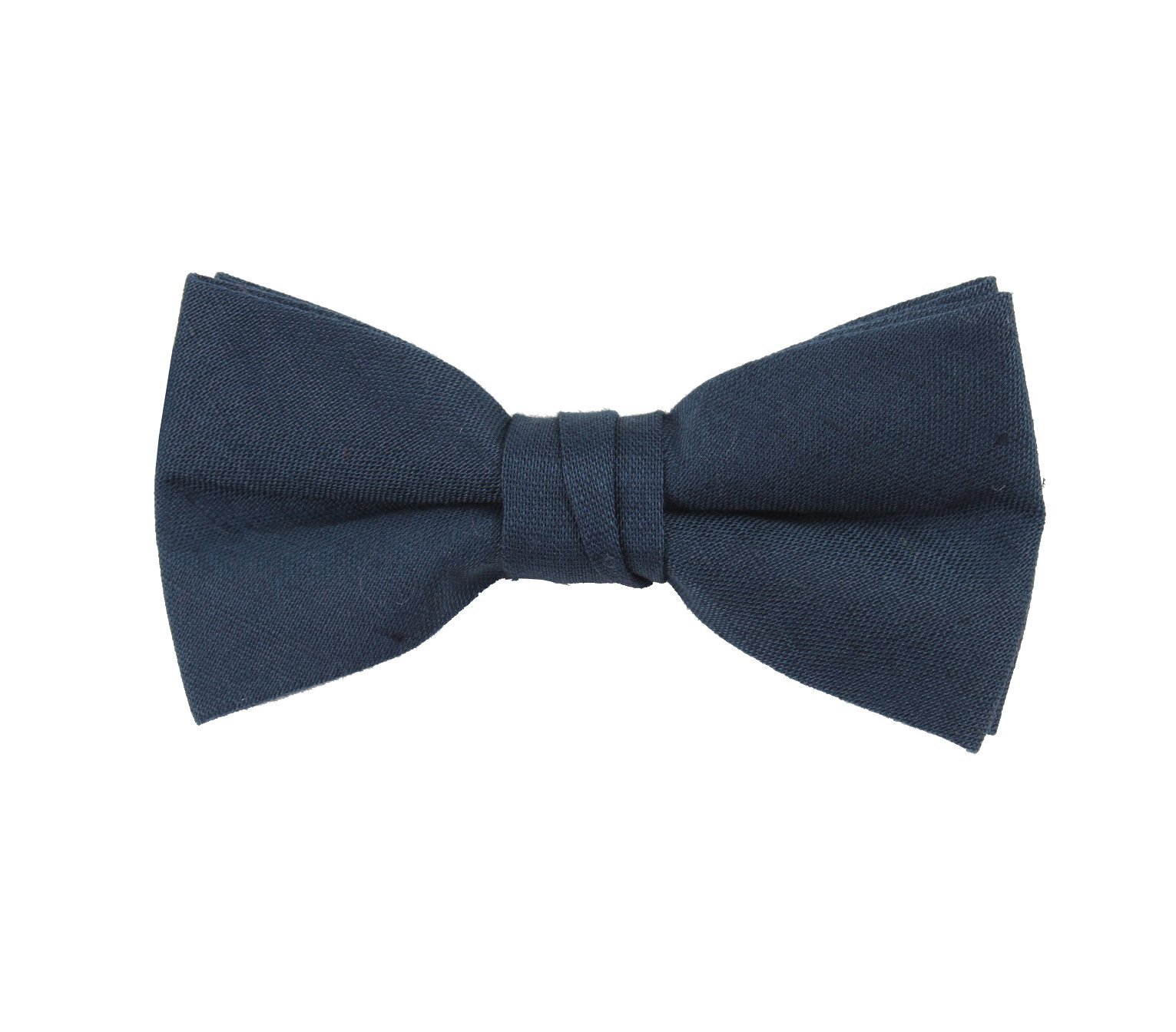 Born to Love Boys Kids Pre Tied Adjustable Bowtie Christmas Holiday Party Dress Up 4 Inches, navy linen by Born to Love