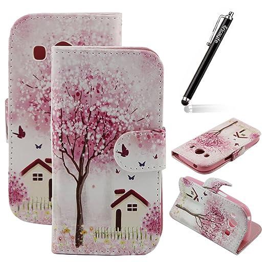 4 opinioni per Ukayfe Custodia portafoglio / wallet / libro in pelle per Samsung Galaxy Ace 4