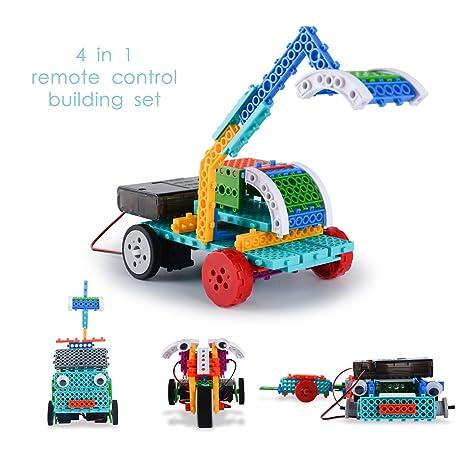Amazon remote control building kits for boy gift stem robot remote control building kits for boy gift stem robot kits for boy gifts rc construction solutioingenieria Gallery