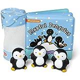 Melissa & Doug Childrenâ€s Book - Float-Alongs: Playful Penguins (Bath Book + 3 Floating Penguin Toys)