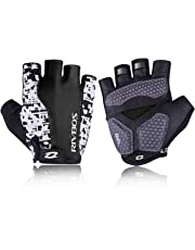 RIVBOS Bike Gloves Cycling Gloves Fingerless for Men Women with Foam Padding Breathable Mesh Fashion Design for Mountain Bicycle Motorcycle Riding Driving Sports Outdoors Exercise CHG001