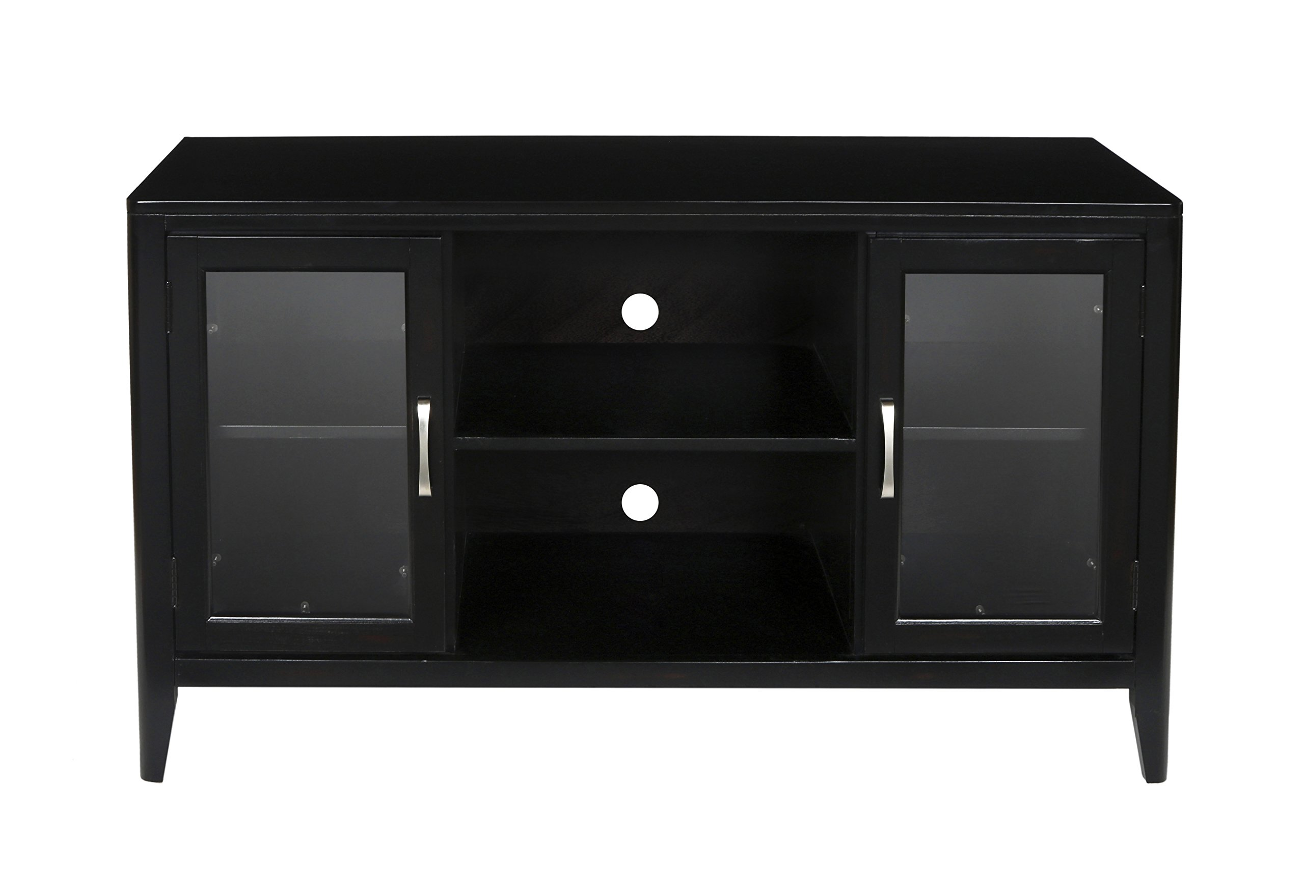 New Classic East Shore Simple Entertainment Console, Black Cherry by New Classic