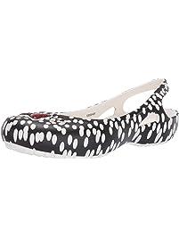 Crocs Womens Kadee Minnie Dots Slingback Flat Ballet Flat