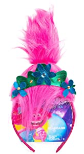 Trolls World Tour Princess Poppy Headband With Faux Troll Hair