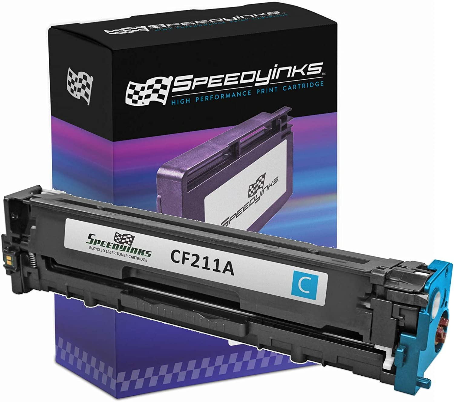 Speedy Inks Remanufactured Toner Cartridge Replacement for HP 131A CF211A (Cyan)