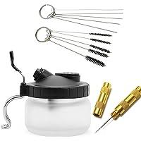 JOYOOO 4 SET aérographe pistolet lavage nettoyage outils -Pot de nettoyage, brosses de nettoyage, nettoyage des aiguilles,Aiguille nettoyage