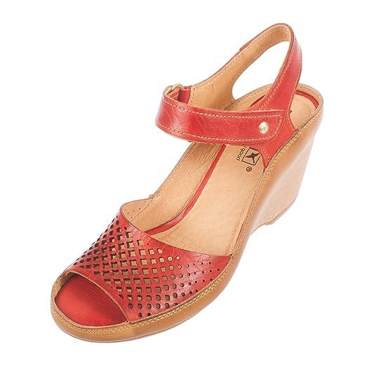 PIKOLINOS Women's Capri Leather Heel Sandal (W8F-0840)