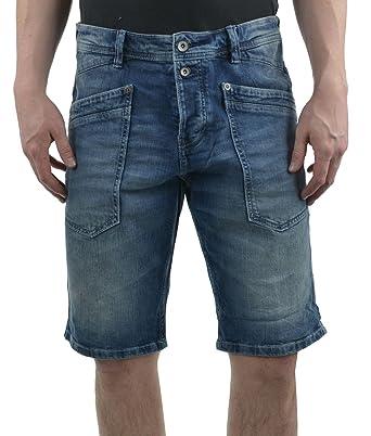 TOM TAILOR für Männer Denim Josh Slim Bermuda-Shorts light stone wash denim  38 9d56715e4d
