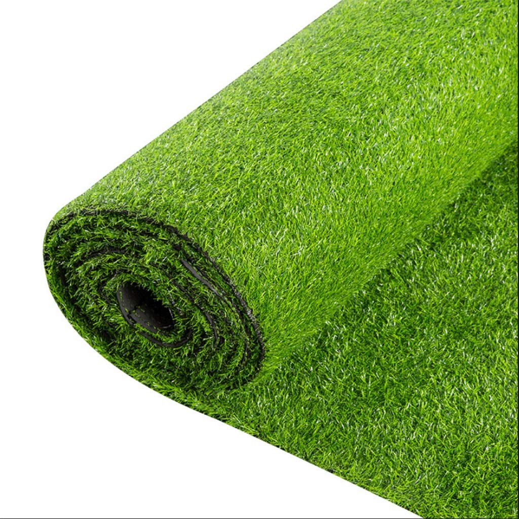 Deep spring grass 1x11m Faux Grass Synthetic Lawn25mm Pile Height, High Density Fake Grass Turf for Dogs Pets Indoor Outdoor Landscape(2mx1m) (color   Deep Spring Grass, Size   1x11m)