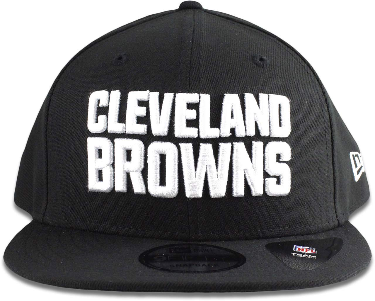 82473c1db6e Amazon.com   New Era Cleveland Browns Hat NFL Black White 9FIFTY Snapback  Adjustable Cap Adult One Size   Sports   Outdoors