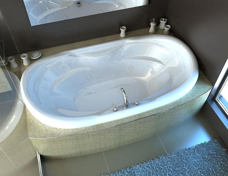 Spa World Venzi Vz4170iwl Aline Oval Whirlpool Bathtub, 41x70 ...