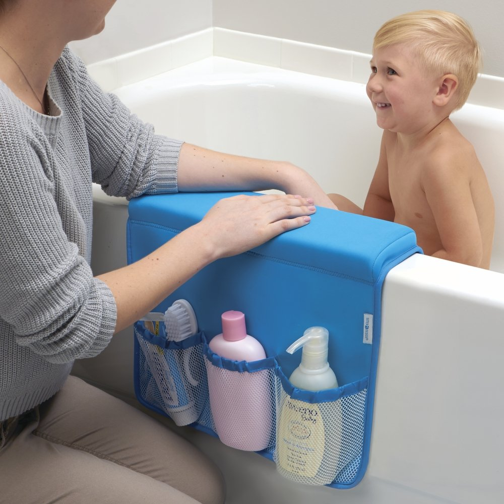 Amazon.com: mDesign Over Bathtub Storage Organizer for Baby/Kids ...