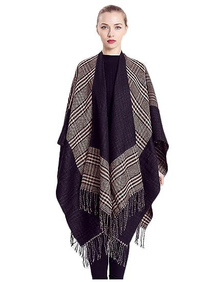 ced899e55 Amazon.com  Epsion Tassel Shawl Poncho Wrap Capes 2017 Fashionable ...
