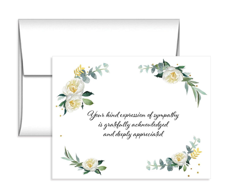 Amazon 15 soft flower sympathy acknowledgement cards includes amazon 15 soft flower sympathy acknowledgement cards includes envelopes office products izmirmasajfo